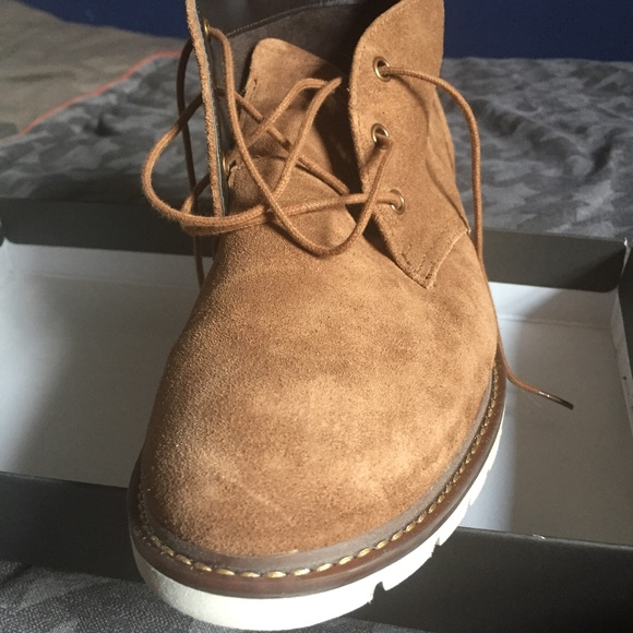 Rockport Mens Brown Suede Chukka Boots